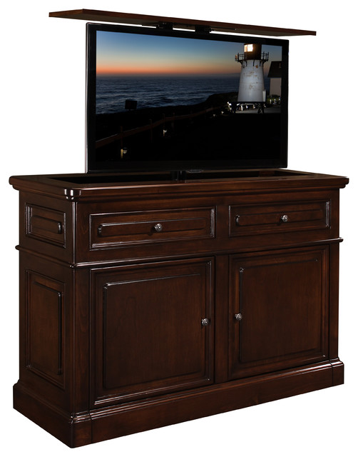 hidden tv lift furniture cabinet us made point loma