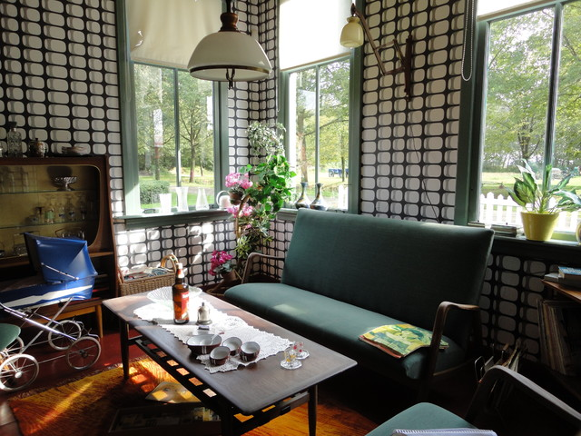 Historical mid century Dutch interior eclectic-family-room
