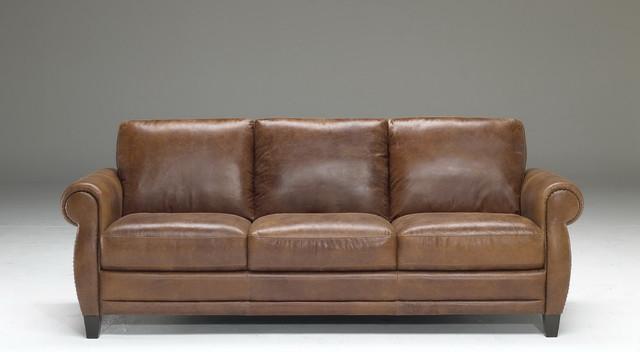 natuzzi editions traditional leather sofa b690. Black Bedroom Furniture Sets. Home Design Ideas