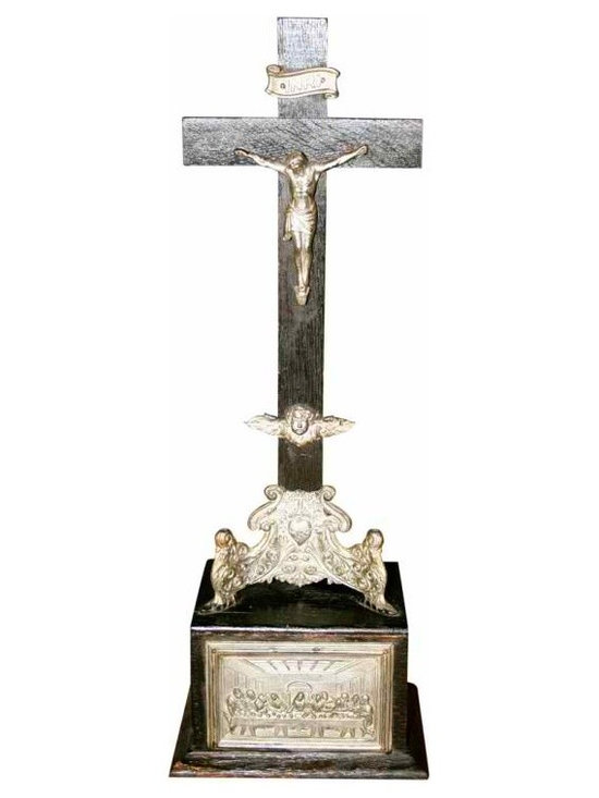 Annointing Station Crucifix - This beautiful antique Annointing Station is circa 1890-1900 and similar to one at the Alamo Museum.