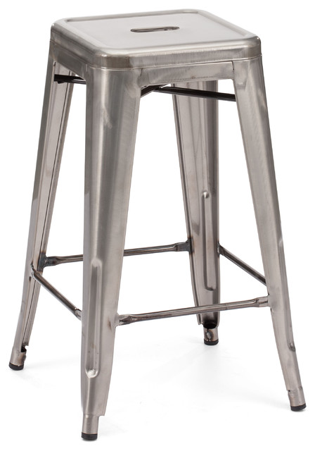 Marius Counter Stool Gunmetal (set of 2) industrial-footstools-and-ottomans