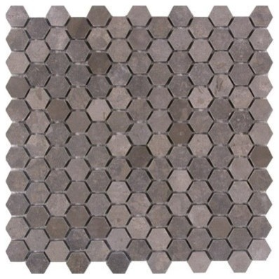 hexagon mosaics lagos azul limestone 1 inch honed