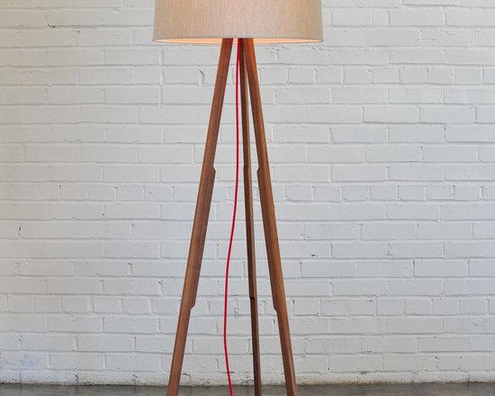 Solstice Floor Lamp (linen/red) - The Solstice Floor Lamp from Ample  |  www.amplefurniture.com