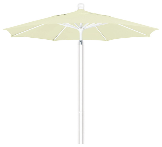 lift patio market umbrella white pole contemporary outdoor umbrellas