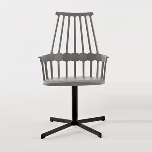 Kartell | Comback Chair, Swivel Base modern-dining-chairs