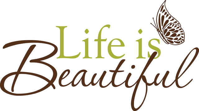 Life is Beautiful Wall Phrases Decals contemporary-wall-decals