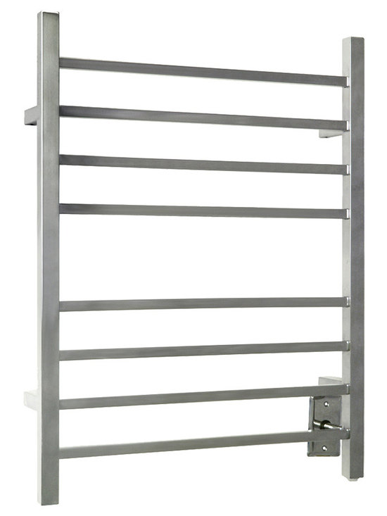 Warmly Yours - WarmlyYours Towel Warmer Sierra Section Square 8-Bar Polished Stainless - The Sierra Towel Warmer is manufactured with a flawless polished finish providing lasting beauty and durability. With 8 sleek horizontal bars, it can easily dry and warm large towels or bathrobes. The Sierra comes with a programmable timer, allowing you the flexibility to set it in advance so your towels are warm when you step out of the shower or bath. Including this as a comfort element in your bathrooms design can help you create that tranquil and relaxing spa atmosphere you have always dreamed about. Imagine your home with the warmth of this beautiful and functional towel warmer.