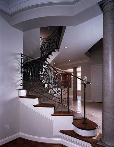 French Country contemporary-staircase