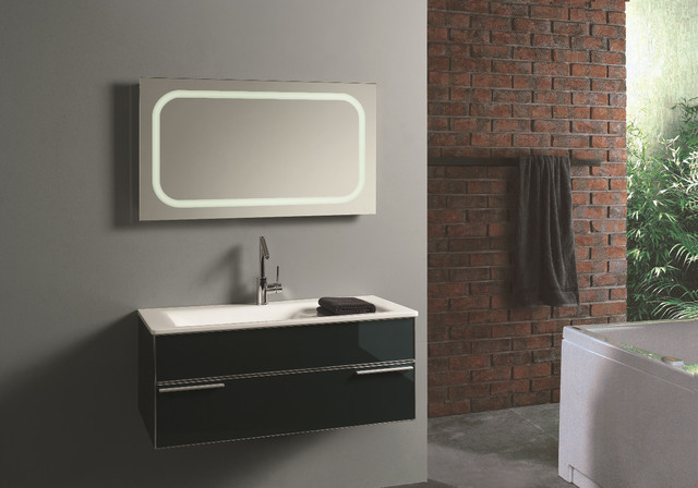 led mirror contemporary bathroom mirrors other metro by lamxon