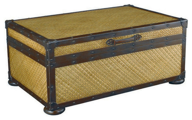 Hammary T73255 00 Hidden Treasures Trunk Cocktail Table With Double Hinged Top Traditional