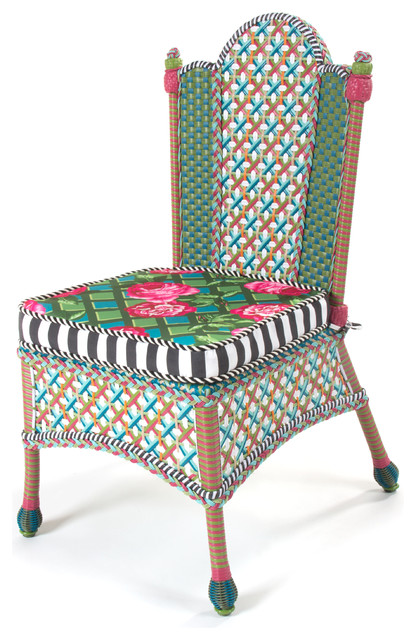 Greenhouse Outdoor Dining Chair | MacKenzie-Childs eclectic-outdoor-chairs