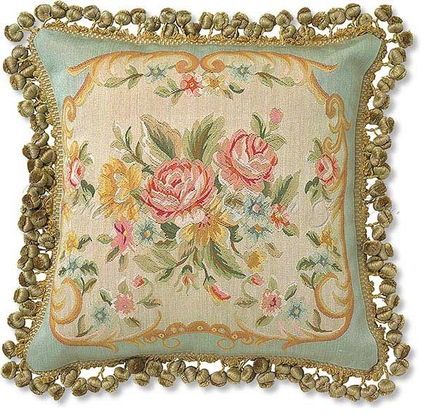 French Tapestry Aubusson Pillow - Eclectic - Decorative Pillows - by Needlepoint Pillows
