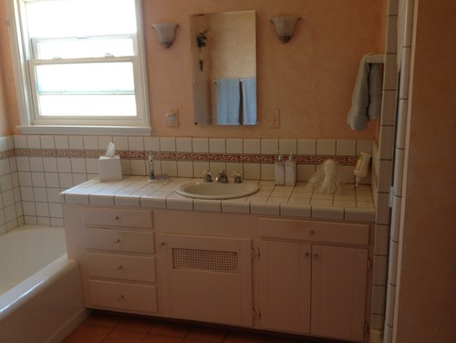New Bathroom Vanity And Tile Vs Pedestal Sink Wainscoting