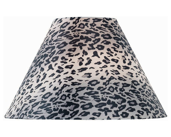 Lite Source - Leopard Printed Fabric Shade - 4Tx11Bx9Sl - Leopard Printed Fabric Shade - 4Tx11Bx9Sl