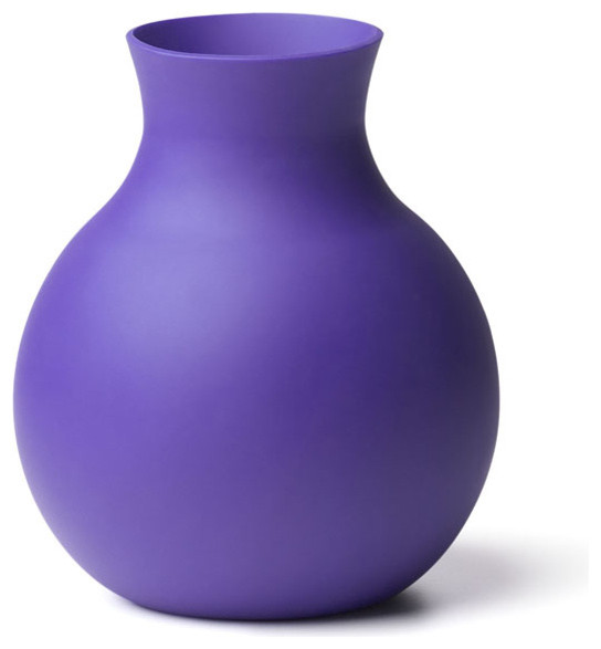 Rubber Vase Large Neo Purple Contemporary Vases