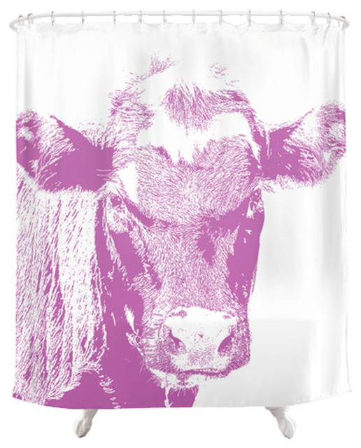 Cow Shower Curtain Pink Contemporary Shower Curtains By Back To Basics