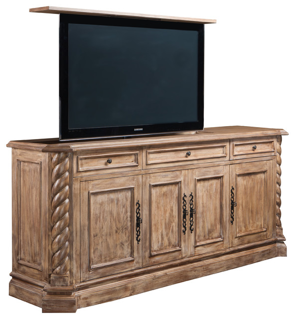 Flat screen TV lift cabinets, Torsal Flat screen TV lift cabinet. Cabinet Tronix - Mediterranean ...