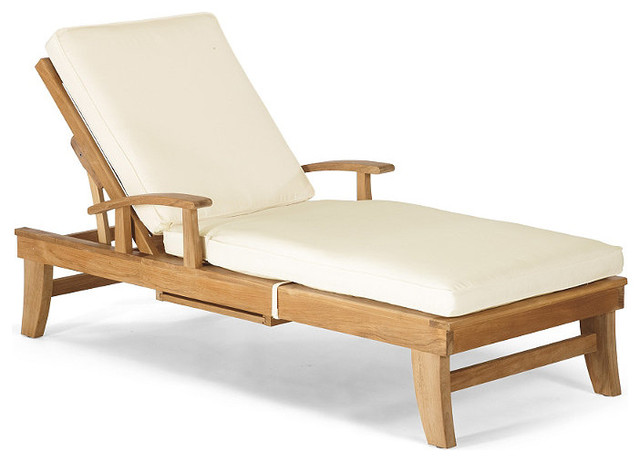 Melbourne Outdoor Chaise Lounge Chair with Cushions - Frontgate, Patio Furniture contemporary outdoor chaise lounges