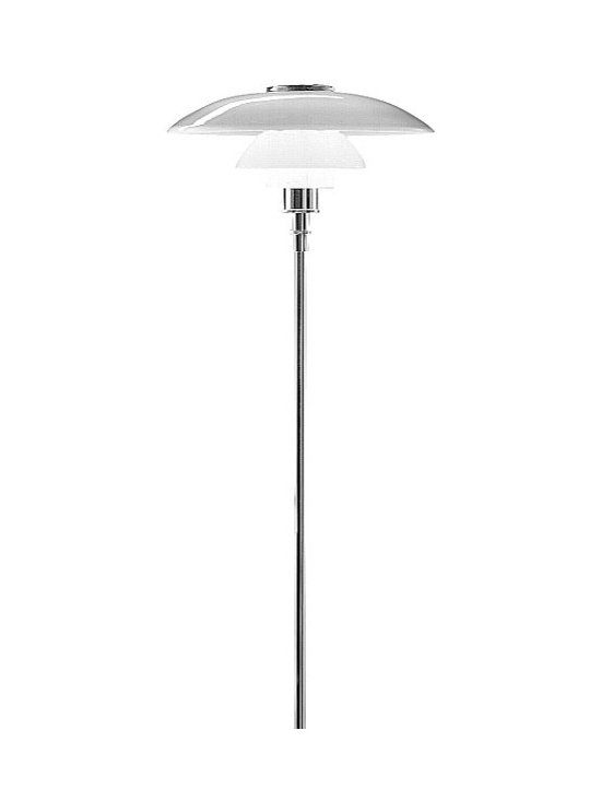 PH 4.5/3.5 Glass Floor Lamp, by Louis Poulsen