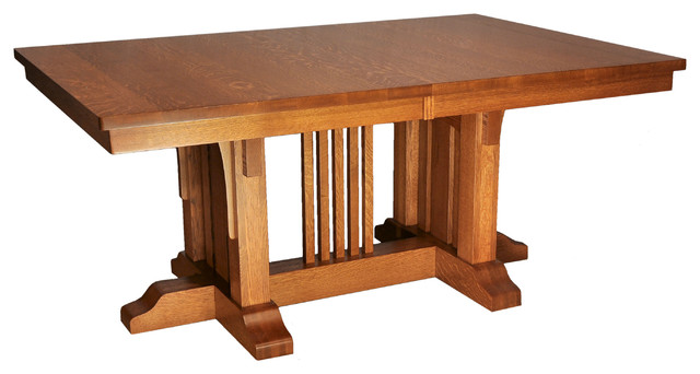 Mission luxury table craftsman dining tables for Mission style dining table