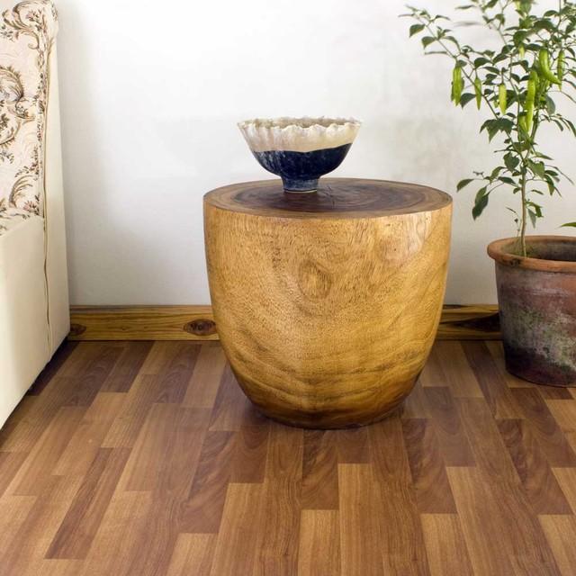 natural wood end table. Black Bedroom Furniture Sets. Home Design Ideas