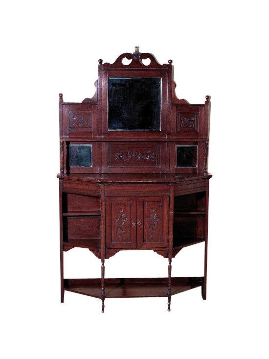 Antiques - Antique English Walnut Dresser Chiffonier Etagere Whatnot - Country of Origin: England