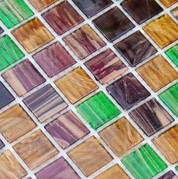 Iridescent Glass Mosaic Tiles IGMT025 modern-mosaic-tile