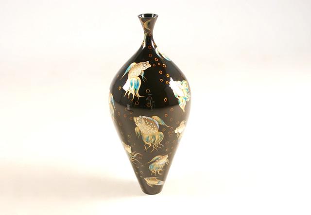 Glow Deco Lacquer Vases contemporary-vases