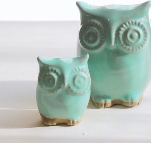 mint green owl and owlet mother and child home decor 301 moved permanently