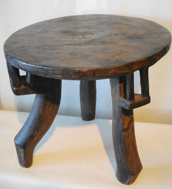 Superb solid wood african stool table tanzania 20 1 2 d 18 h eclectic side tables and end African coffee tables