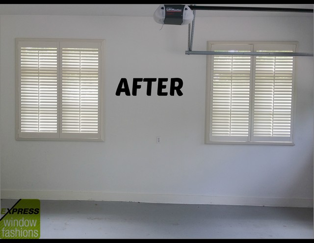 Newstyle Shutters In Garage