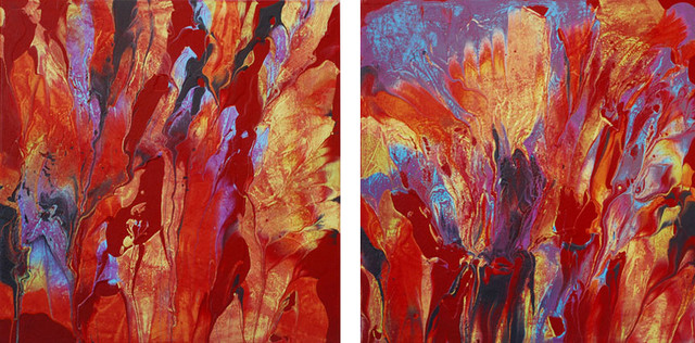 Red Hot Diptych contemporary-artwork