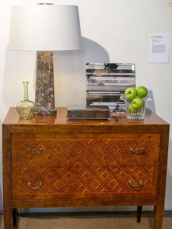 Cabana Home vignette: Italian inlaid wood Chest - Available at Cabana Home