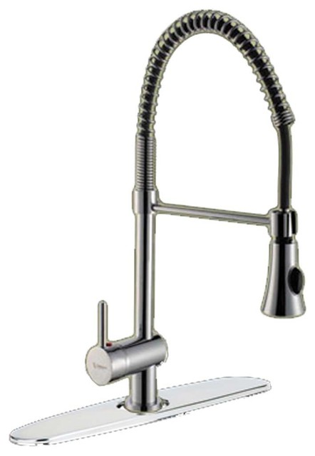 Kitchen Faucets Chrome Single Handle Kitchen Faucet Pullout Farmhouse Kit