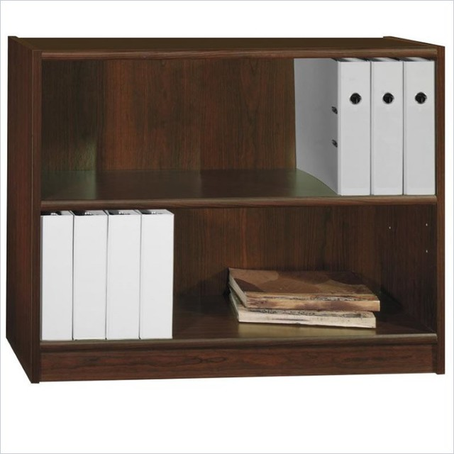 """Bush Universal 30""""H 2 Shelf Wood Bookcase in Vogue Cherry - Transitional - Bookcases - by Cymax"""