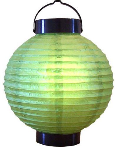 "8"" Meadow Green Glowing Lantern asian-table-lamps"