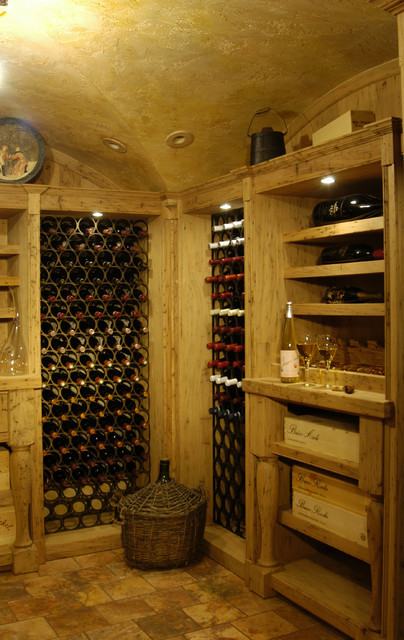 Benvenuti and Design mediterranean wine cellar
