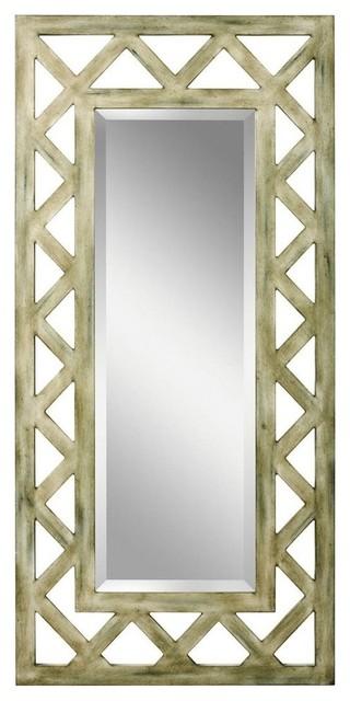 Kichler Lattice Decorative Mirror in Hand Painted Rustic
