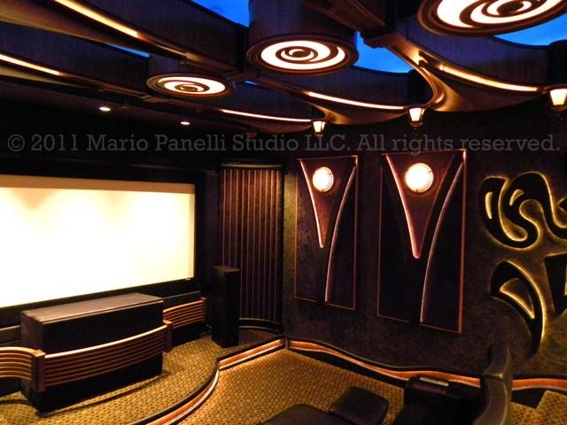 Mario Panelli Studio modern-home-theater