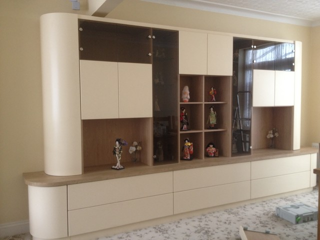 Custom made living room unit modern-media-storage