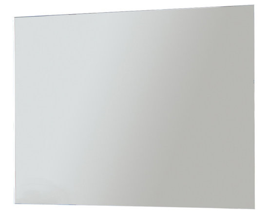 "Macral - 32"" Frame-less LED Light Mirror. - If your dream of a perfect room includes modern lines and a clean aesthetic, a frameless mirror with an LED back light is right up your alley. Turn on the full color light with the remote and you will have a daily reminder of your last decadent hotel stay. The only question now is how to order room service."