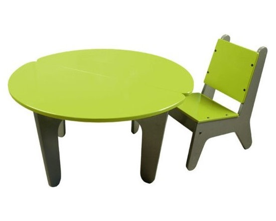 notNeutral BB2 Table & Chair Set - Inspired by notNeutral's award-winning child care center designs for Universal Studios, the BB2 (Baby Boomer Too) painted Table + Chairs Set is high design for your youngsters!