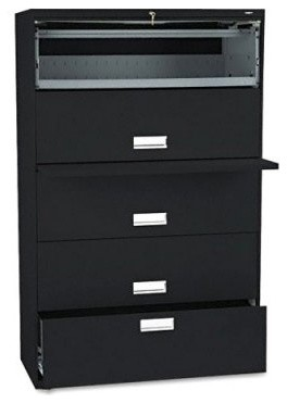 HON 600 Series 42 Inch Four Pull Out Shelves and One Drawer Lateral File - Modern - Home Office ...