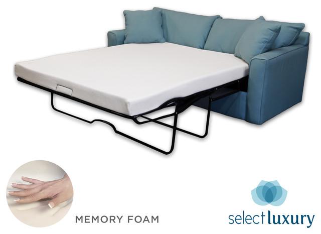 Luxury Reversible 4 Inch Full Size Foam Sofa Bed Sleeper