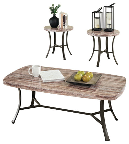 Top Coffee End Occasional Table Set Contemporary Coffee Table Sets
