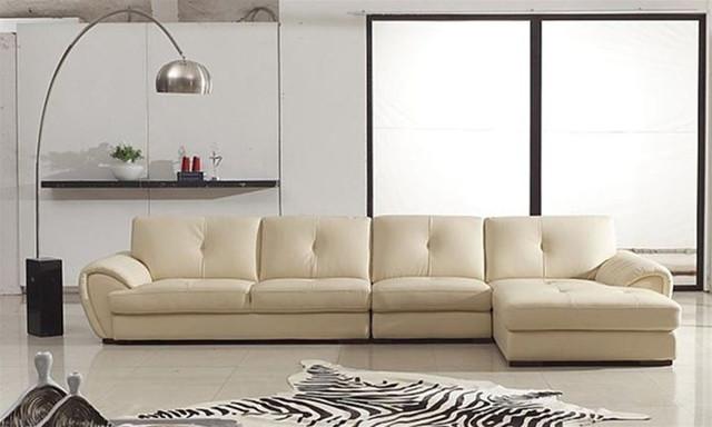 Elegant Full Italian Leather Sectionals Modern