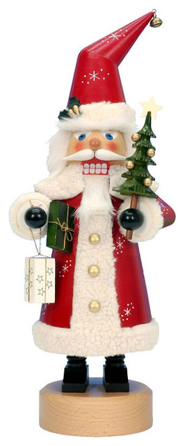 Red Santa Nutcracker - Frontgate - Christmas Decorations traditional-holiday-decorations