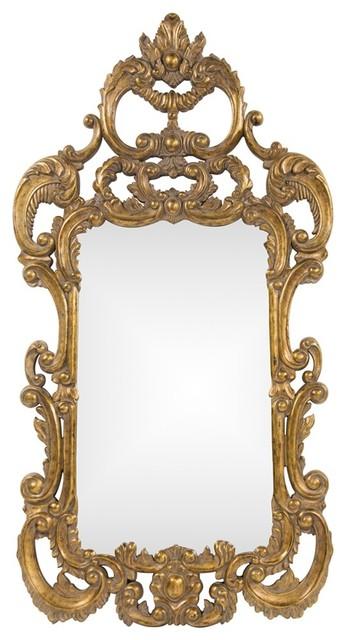 Johnston Gold Mirror traditional-mirrors