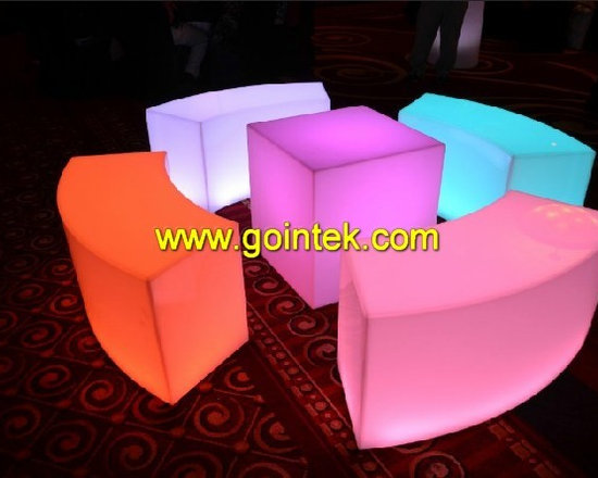 lighting led furniture and stool chair -