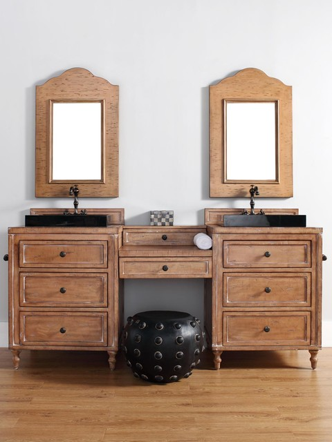 52 74 Copper Cove Double Sink Vanity Traditional Bathroom Vanities And Sink Consoles San